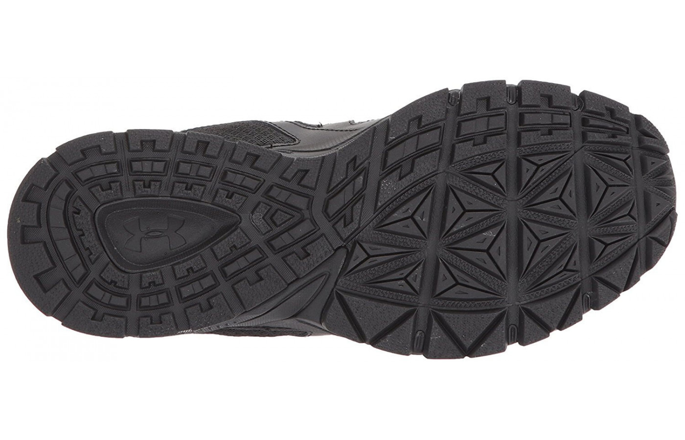A bottom view of the Under Armour Mirage 3.0.