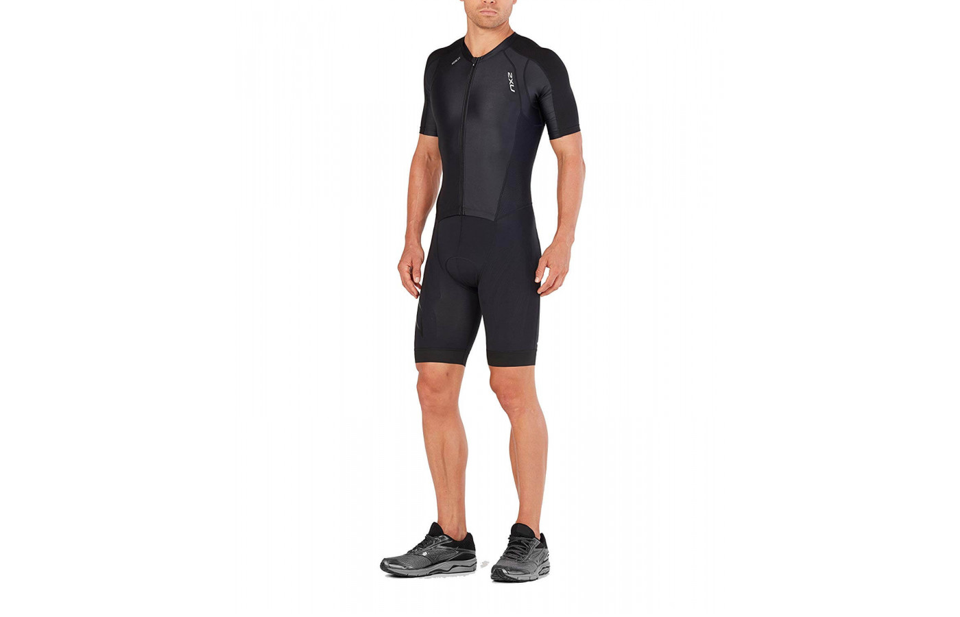 The 2XU Compression Full Zip Sleeved Trisuit was designed to handle triathlons.