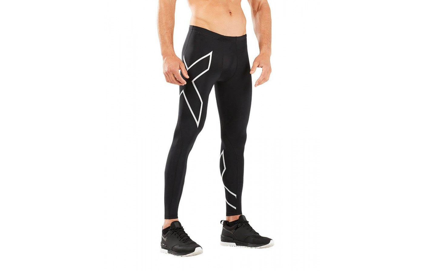 The 2XU Compression Tights are made from a mixture of nylon and elastane.