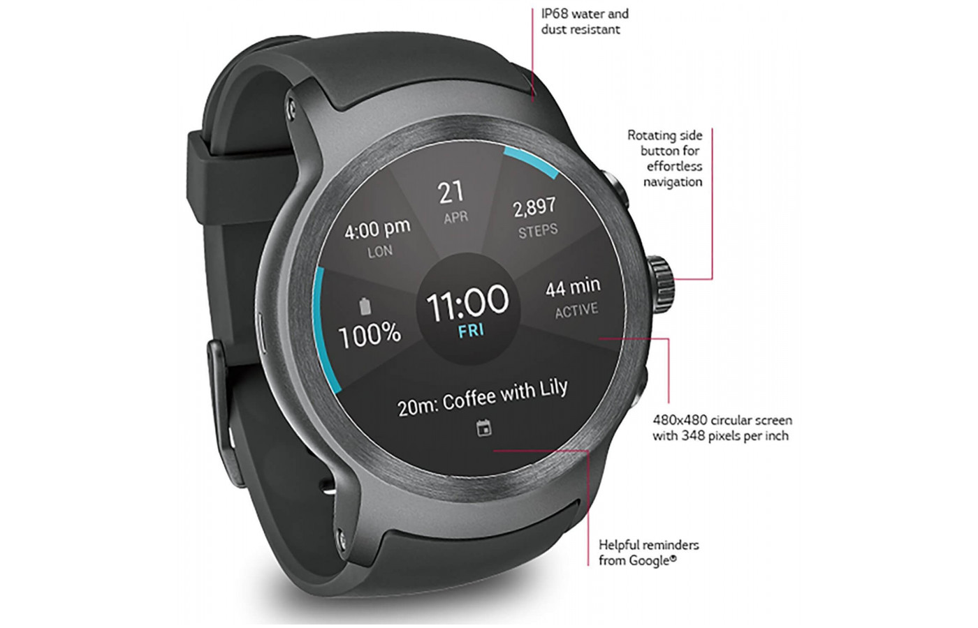 The LG Watch Sport features