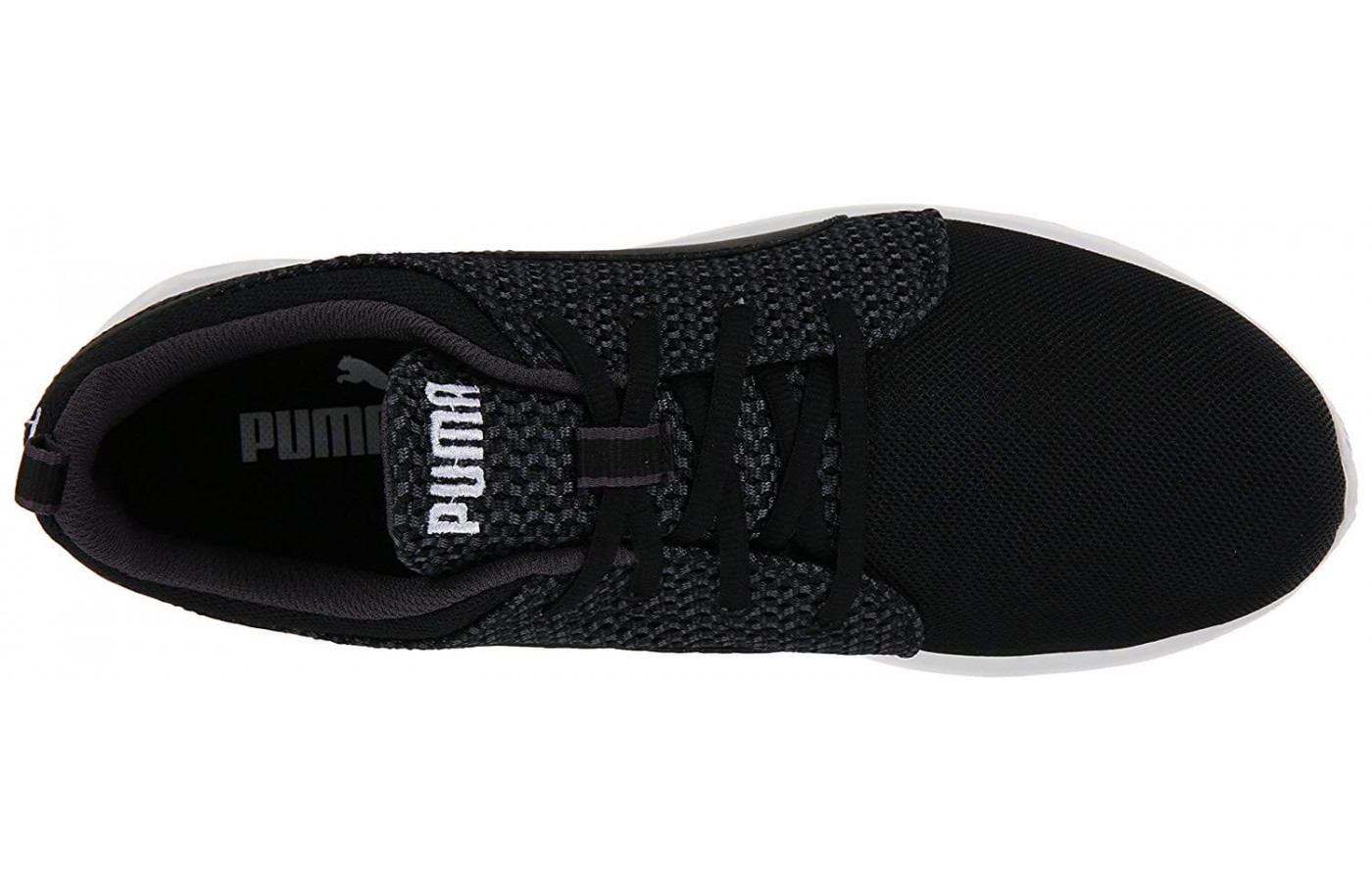 The Puma Carson Runner Knit lacing system provides support