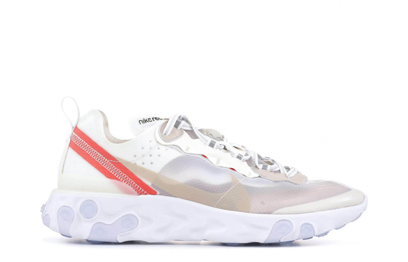 The medial side of the Nike React Element 87