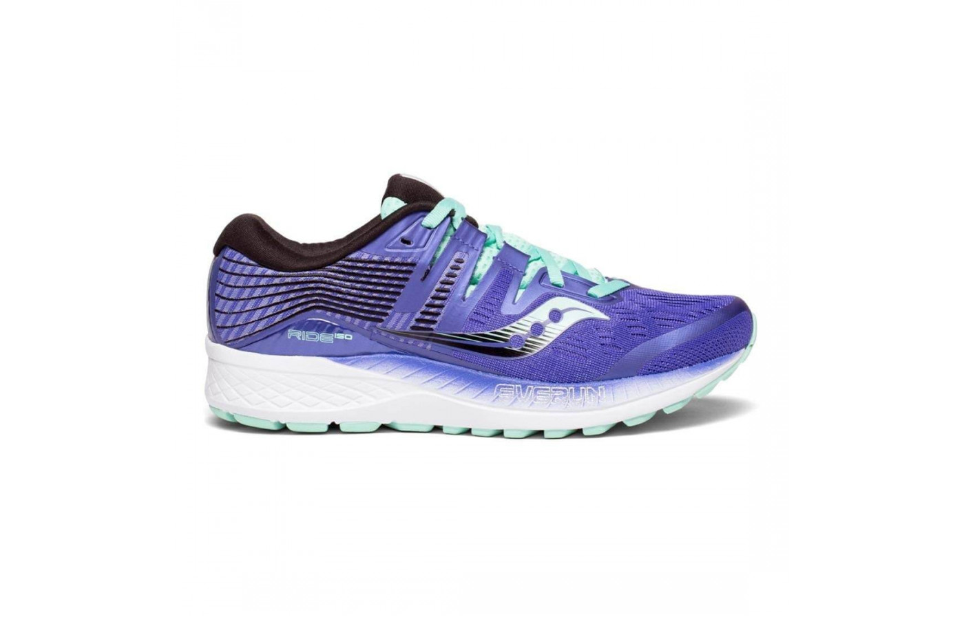 The Saucony Ride ISO has an EVERUN midsole top layer