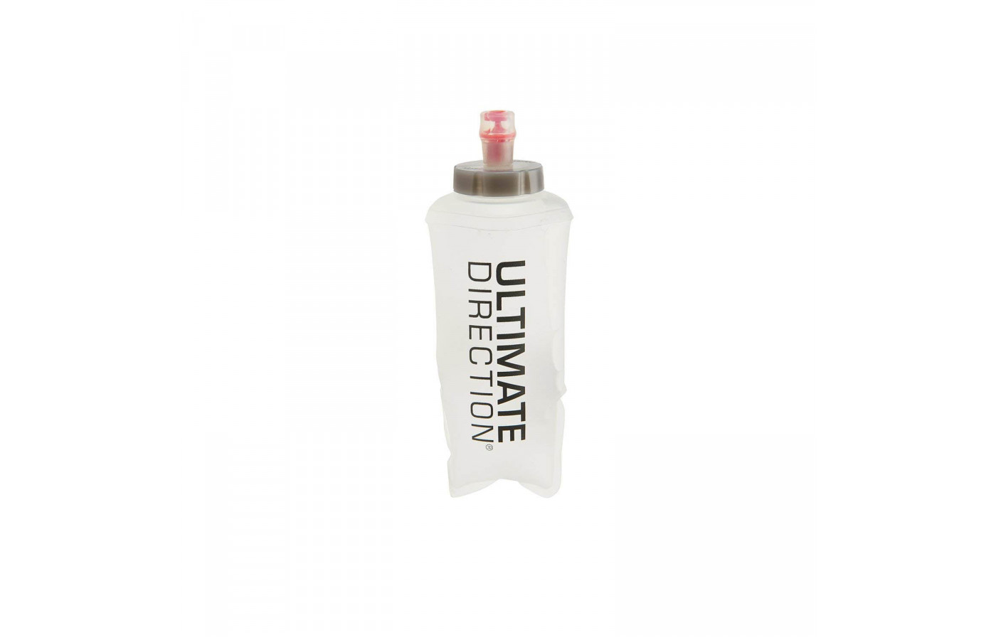 The Ultimate Direction PB Adventure Vest 3.0 comes with one 500mL soft flask
