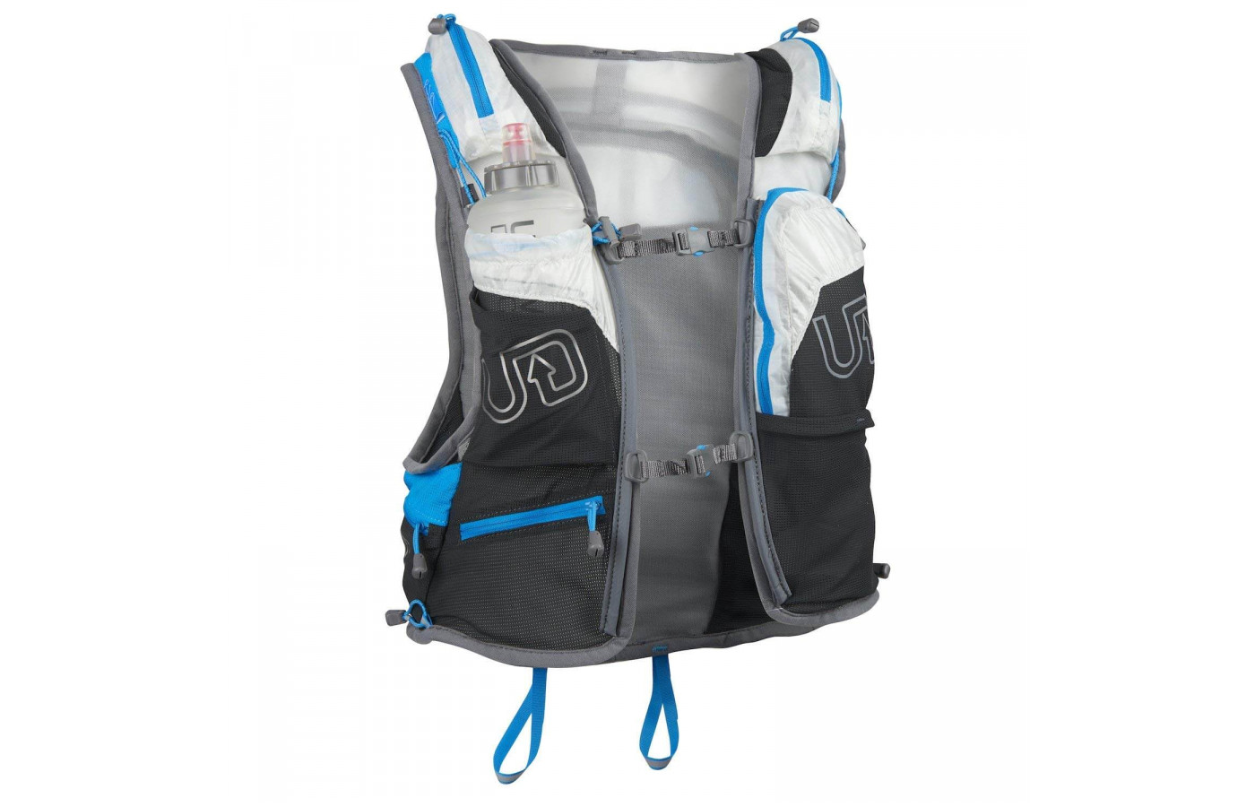 The Ultimate Direction PB Adventure Vest 3.0 weighs about 14.4 ounces
