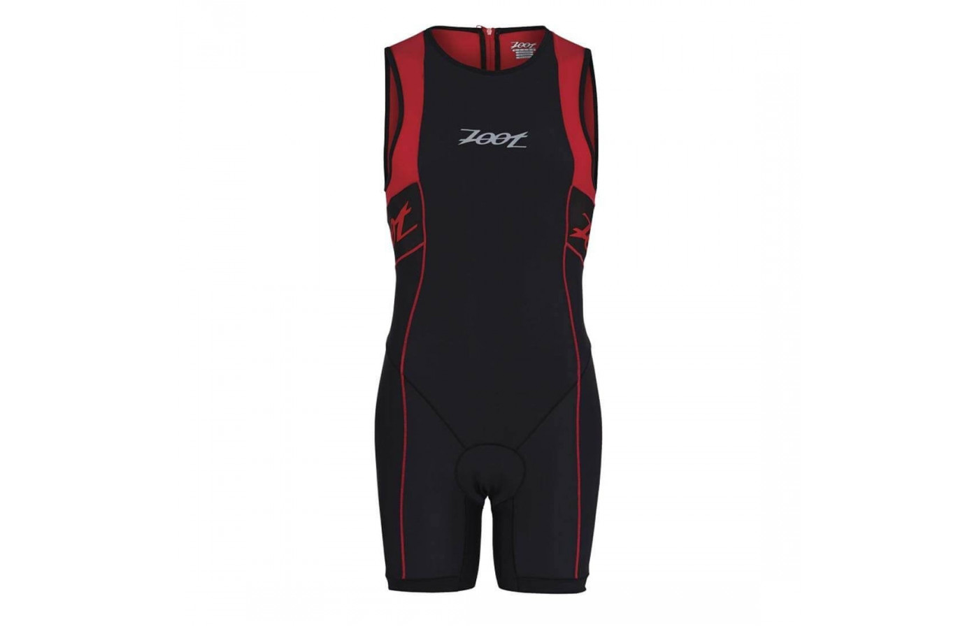 The Zoot Performance Tri Racesuit features side panels for breathability