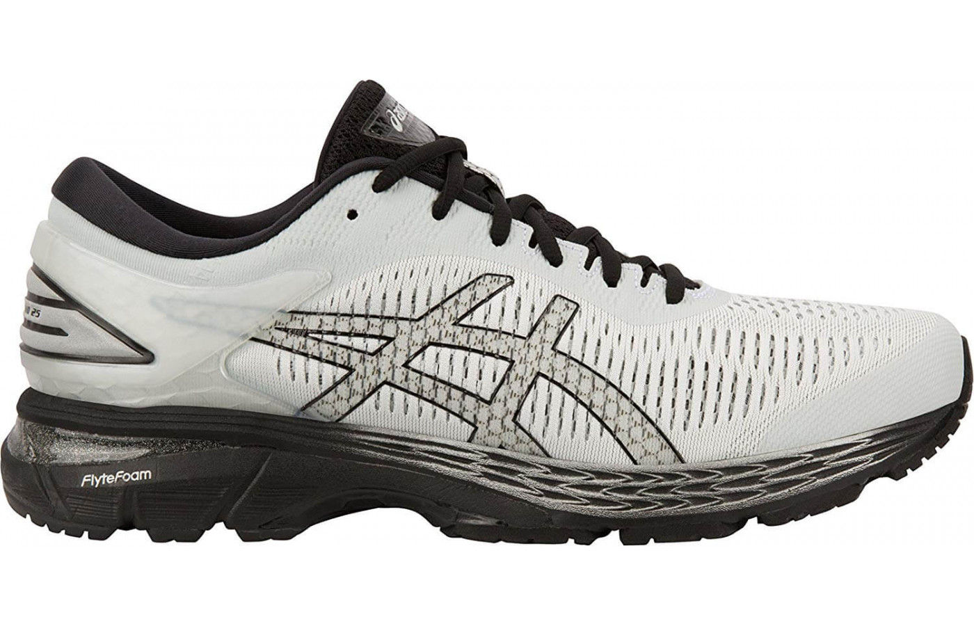 The lateral side of the Asics Gel Kayano 25.