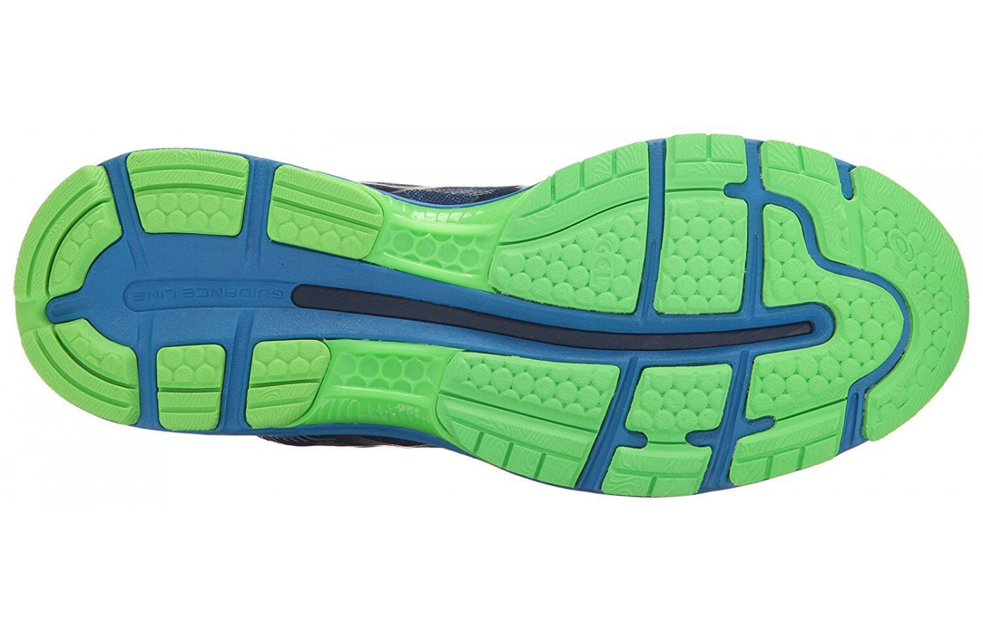 The outsole includes a guidance trusstic system for efficient gait cycle.