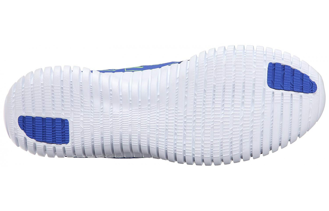 The outsole is lined with multiple flex grooves