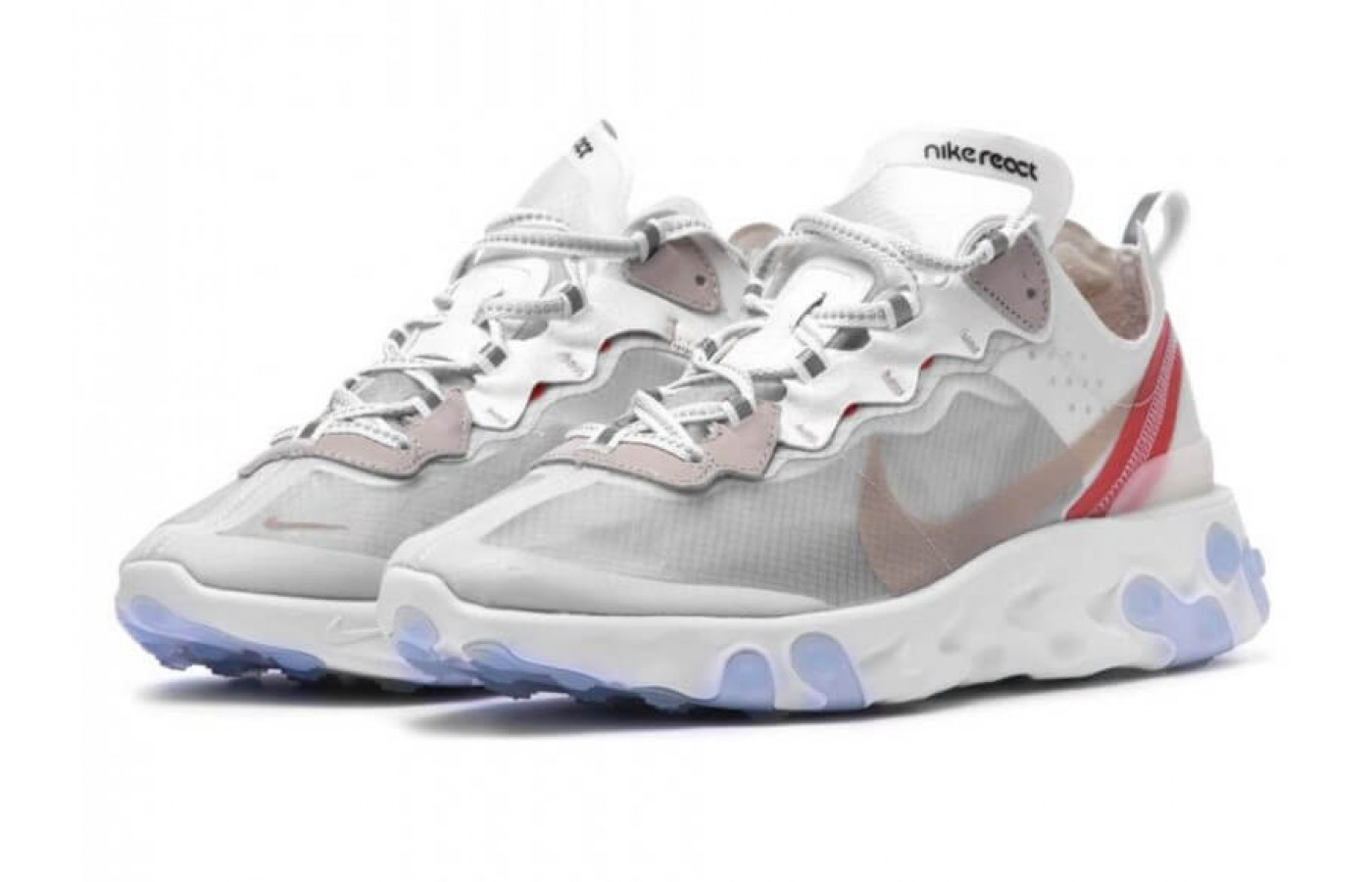 An angled view of the Nike React Element 87.