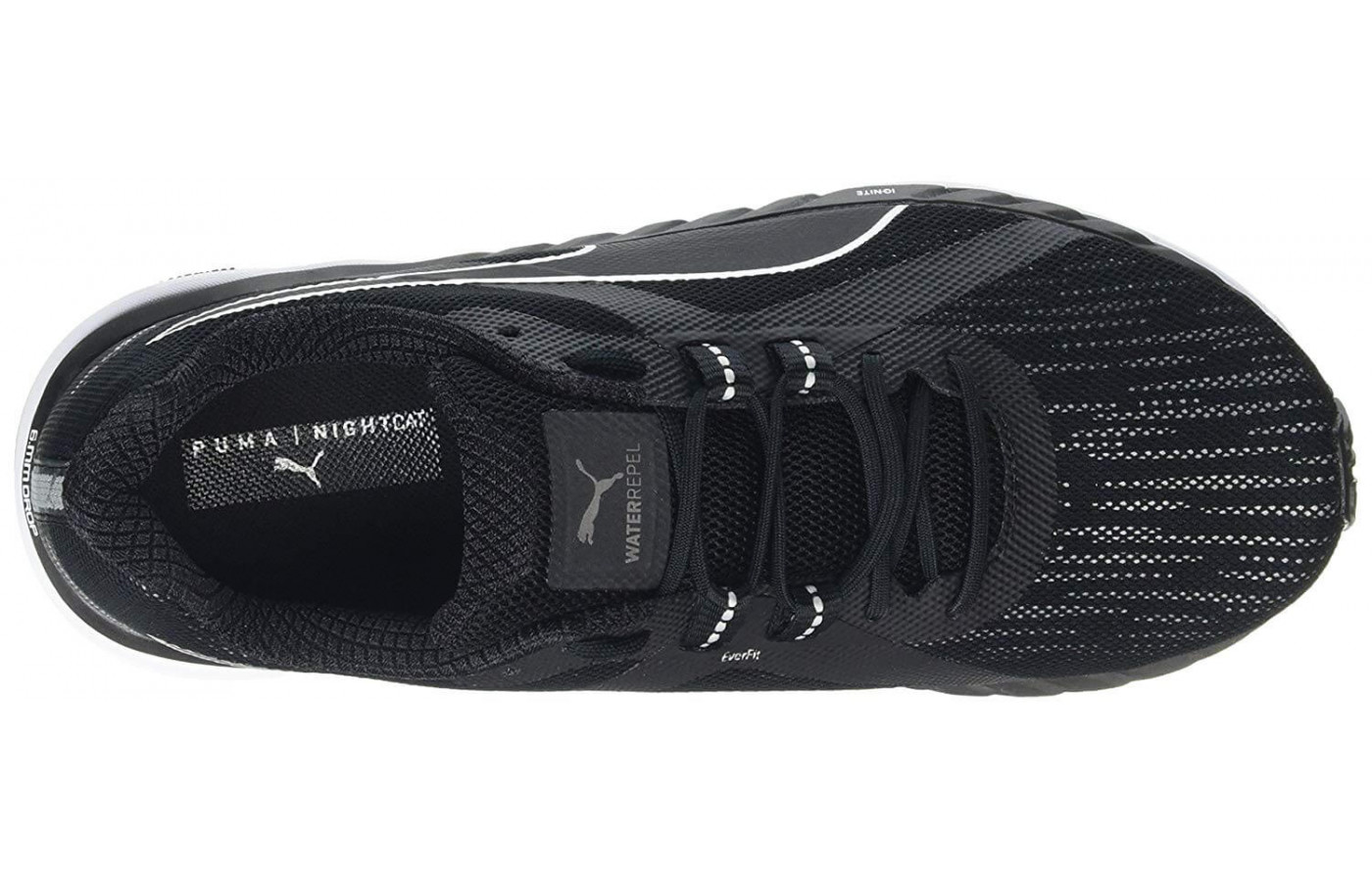 A top view of the Puma Speed 500 Ignite Nightcat.