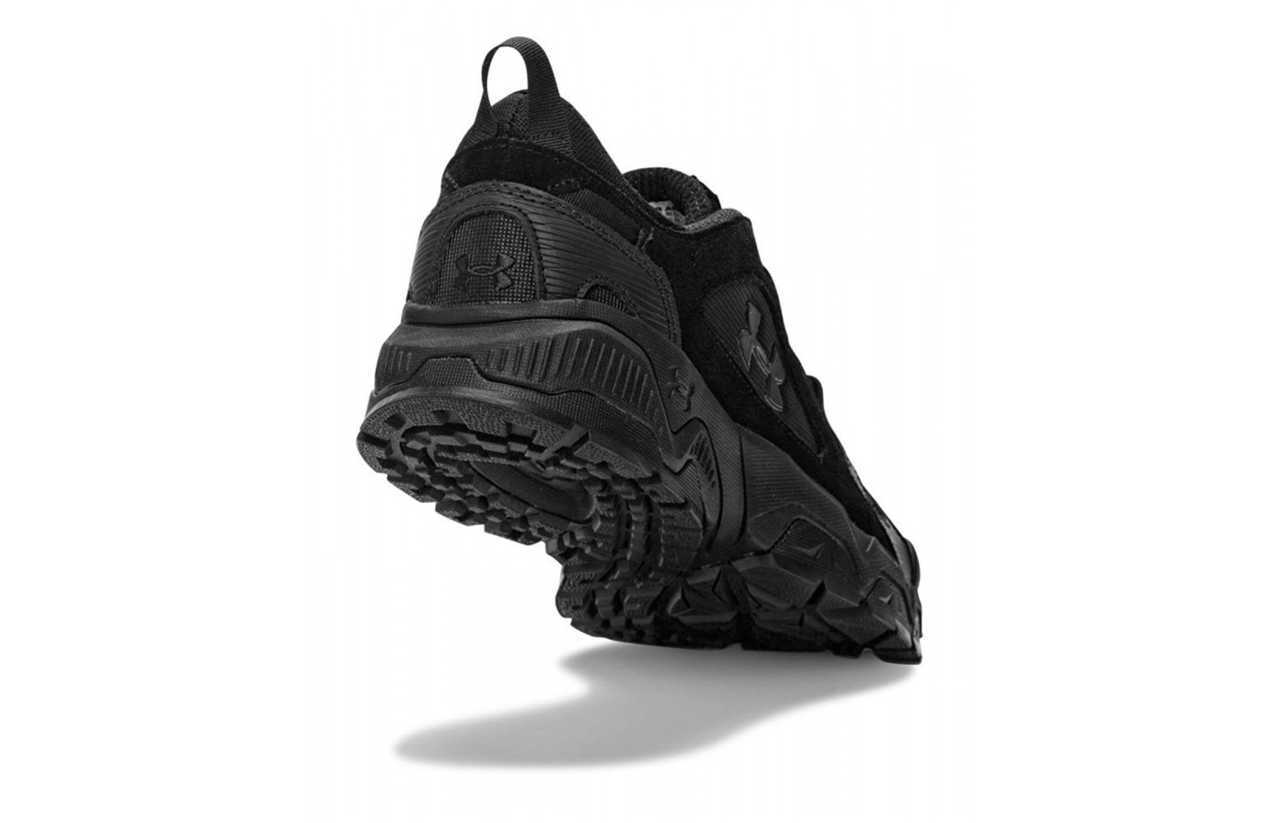 The outsole is lined in an aggressive lug pattern.