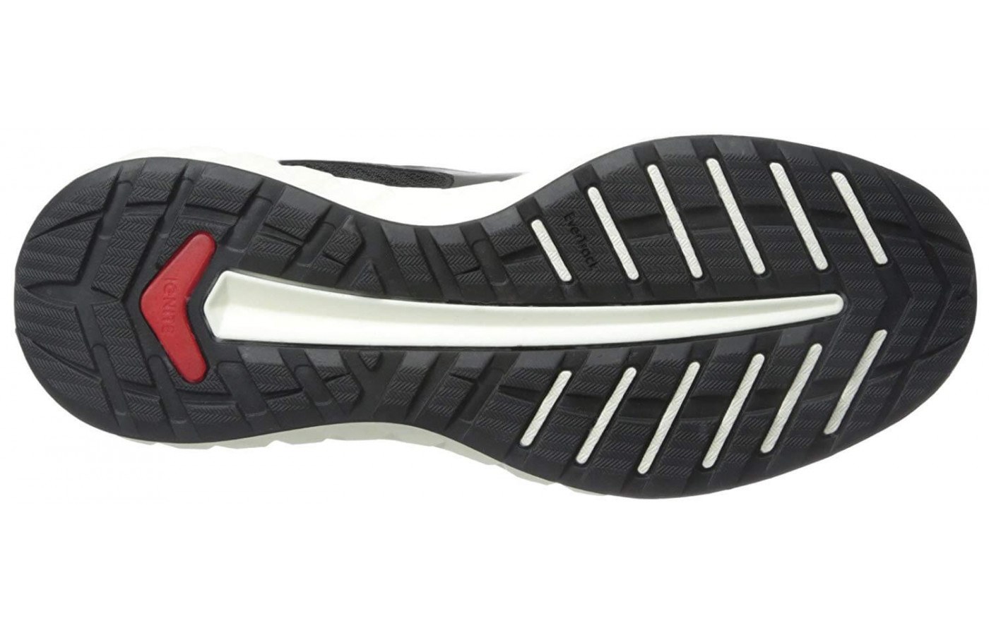 The transition line along the outsole provides a smooth heel to toe transition.