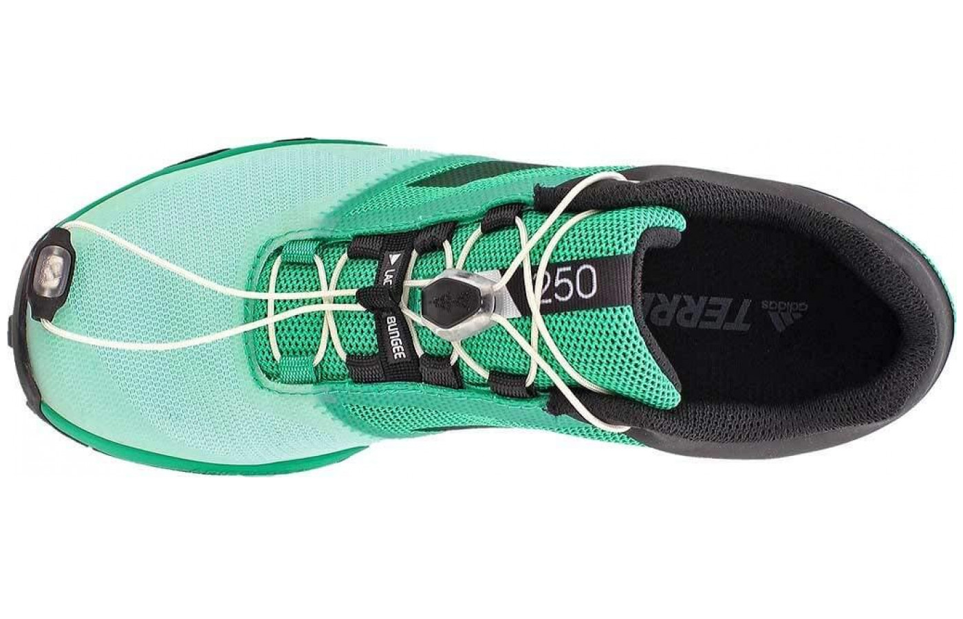 The lacing system is a secure bungee system.