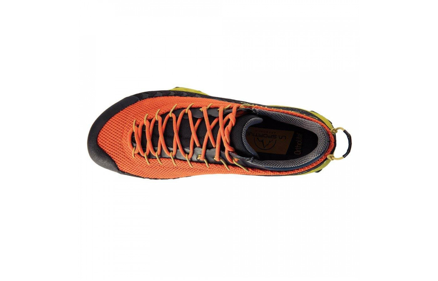 La Sportiva TX3 GTX Hiking Shoe top view spicey orange mens