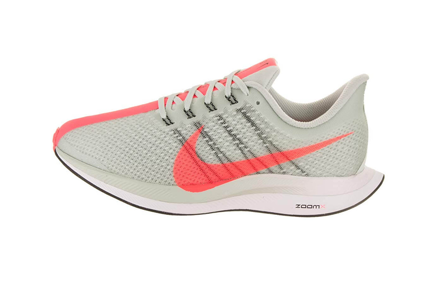 The Zoom Pegasus Turbo's ZoomX midsole is lightweight, comfortable, and responsive.