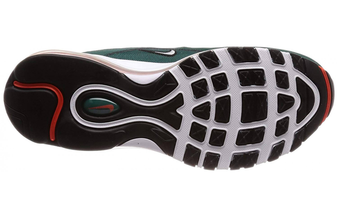 The Air Max 97's outsole is made from a basic rubber compound