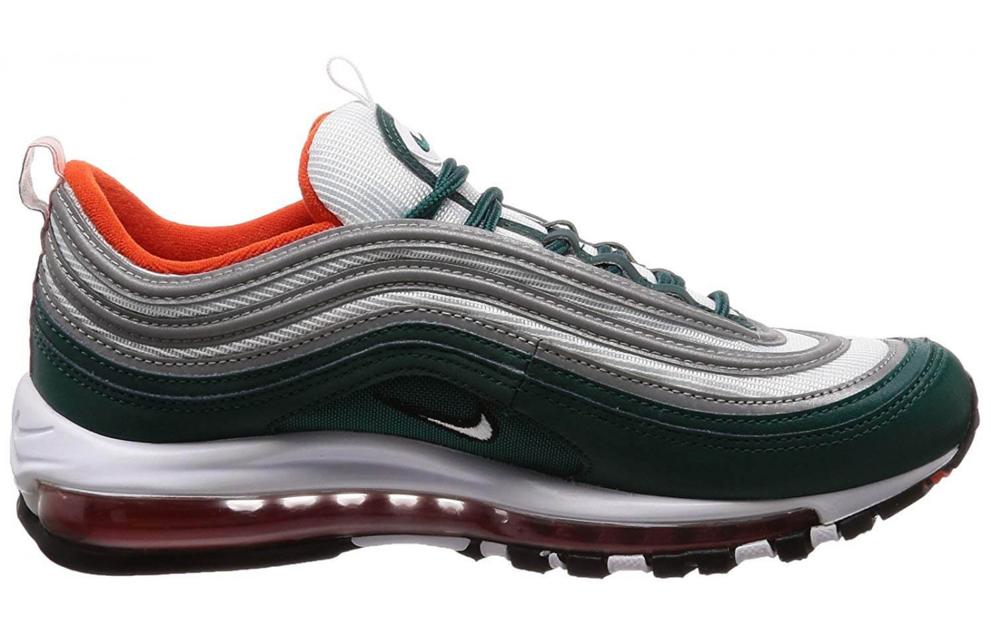 The Air Max 97 features Air Max cushioning throughout the length of the foot