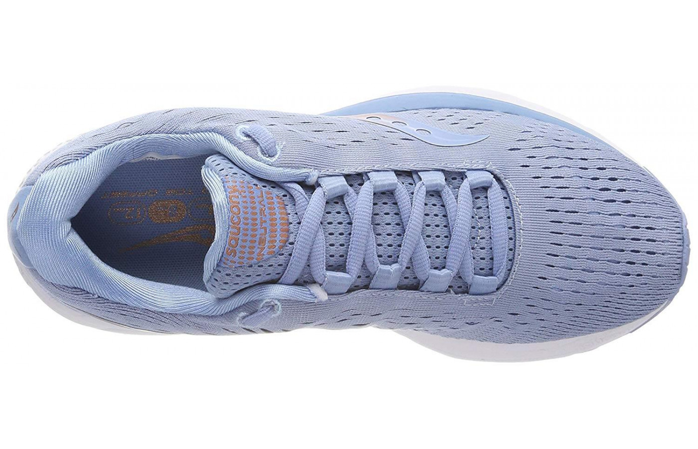 The Jazz 20 features an engineered mesh upper for greater comfort and breathability