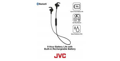 Looking for the best headphones for them wet and sweaty runs look no farther then the JVC HA-ET50BT headphones with its great water-resistant qualities.