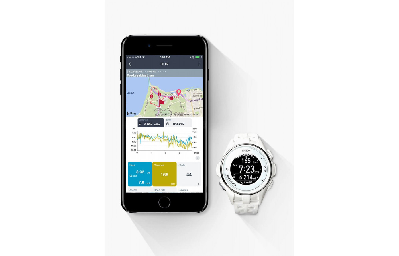 Epson ProSense 307 smartwatch and activity tracker