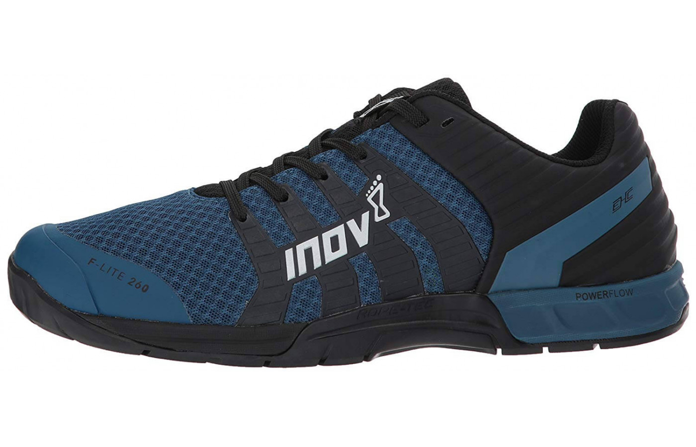 A Dynamic Fascia Band and Power Footbed insole add to the F-Lite 260's responsiveness