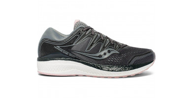 The Saucony Hurricane ISO 5 features a Jacquered mesh upper with ISOFIT technology.