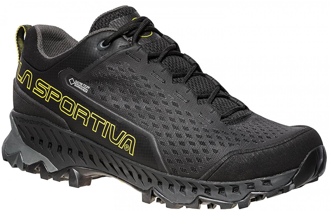 The Spire GTX is available in black or blue.