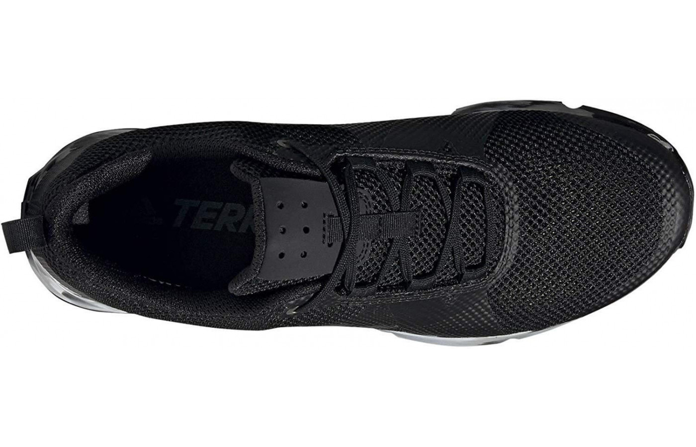 The Terrex Two's upper is made from mesh with TPU overlays.