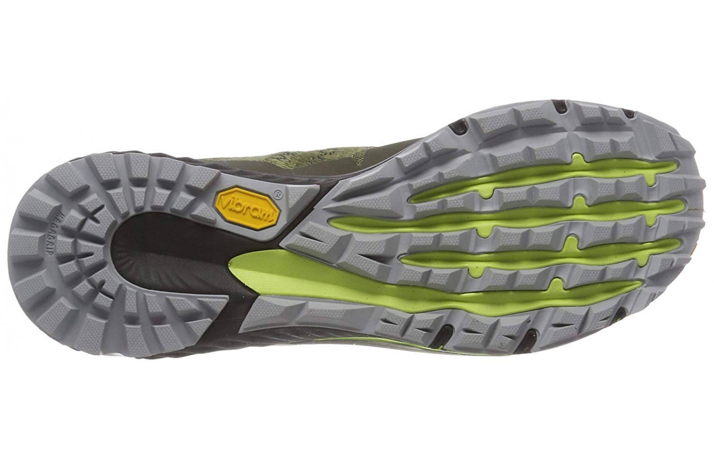 The Agility Peak Flex 3 features a Vibram Megagrip outsol