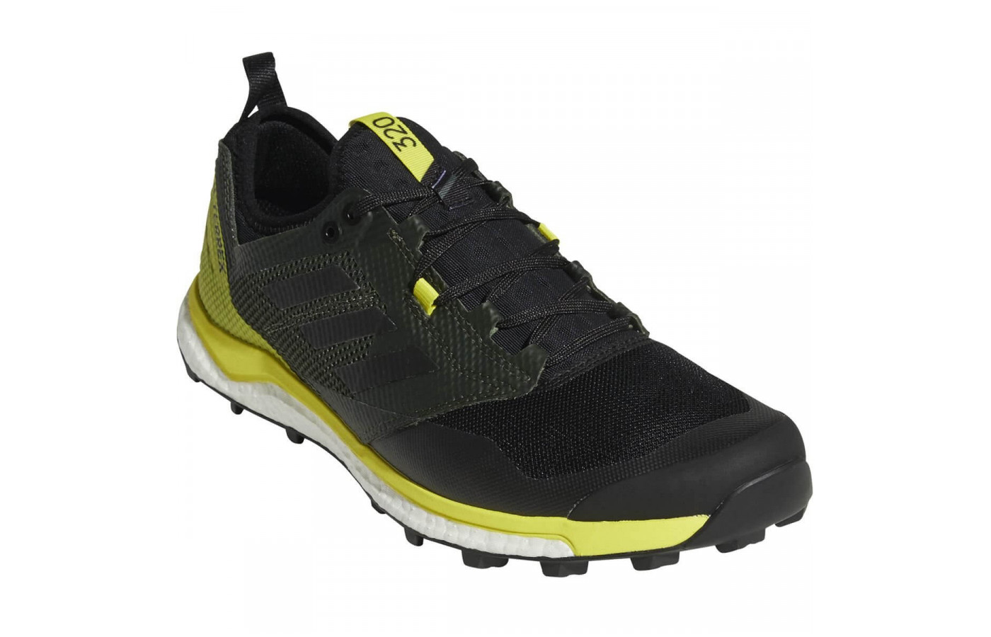 A breathable mesh upper enhances the Terrex Agravic XT's level of comfort.