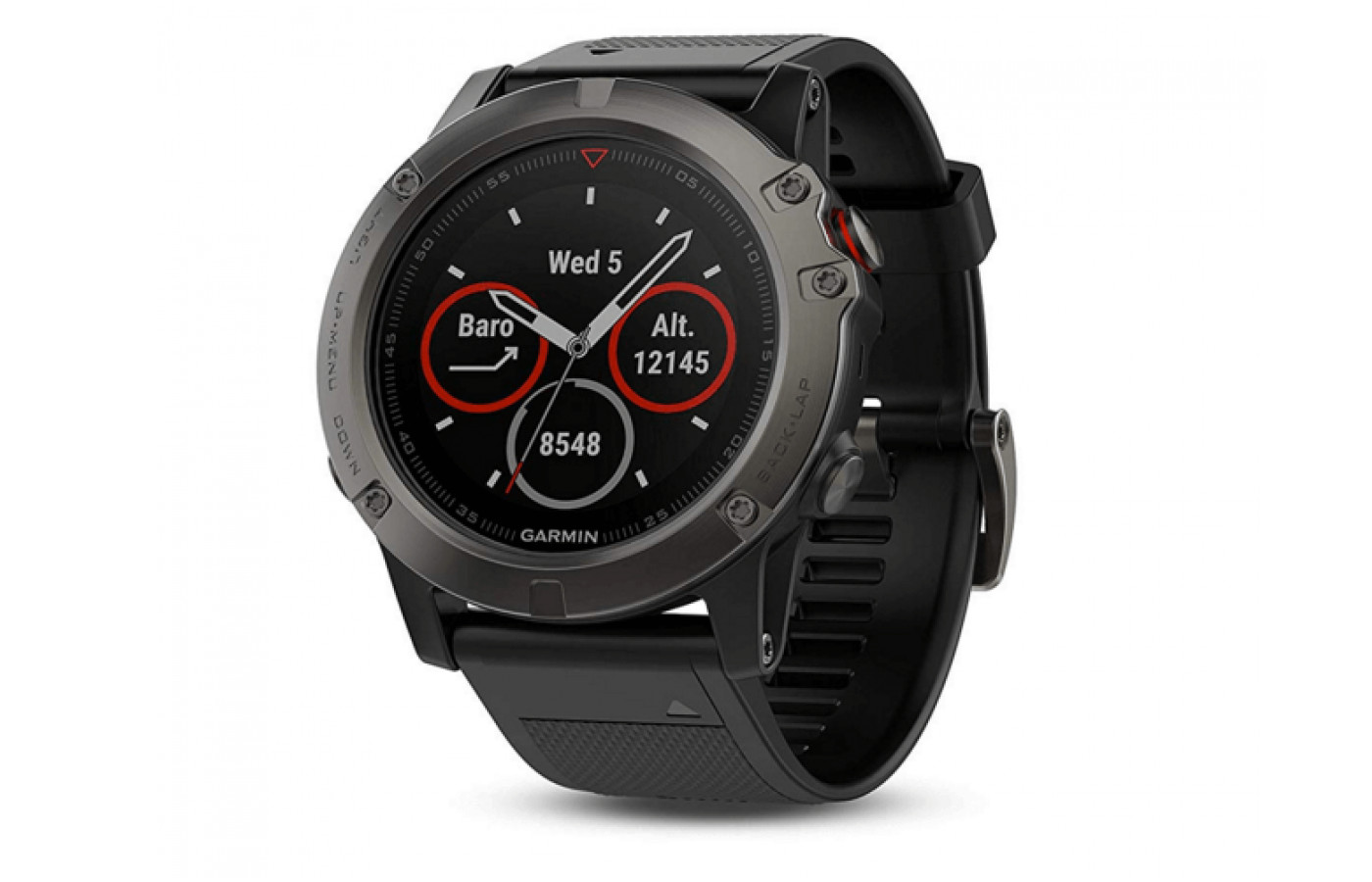 The Fenix 5X is only available in slate grey and black.