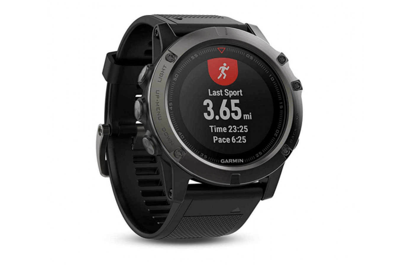 The Fenix 5X is equipped with tracking features for multiple activities.