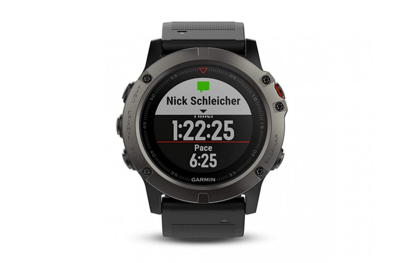 The Fenix 5X's GPS includes full-color mapping