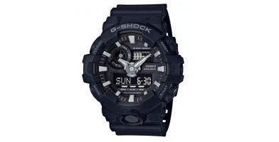 The Casio G-Shock GA700-1B is a military-style watch that's both durable and versatile.
