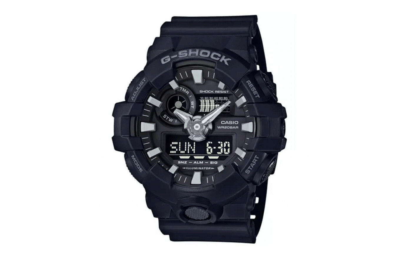 The G-Shock GA700-1B is available in several colorways