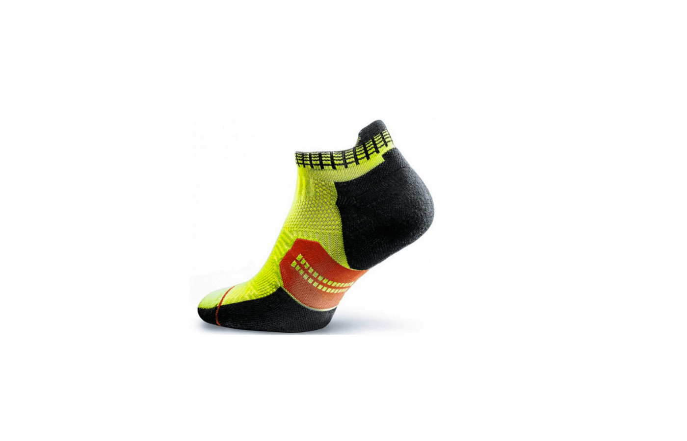 The Accelerate running socks offer compression in the midfoot and ankle areas.