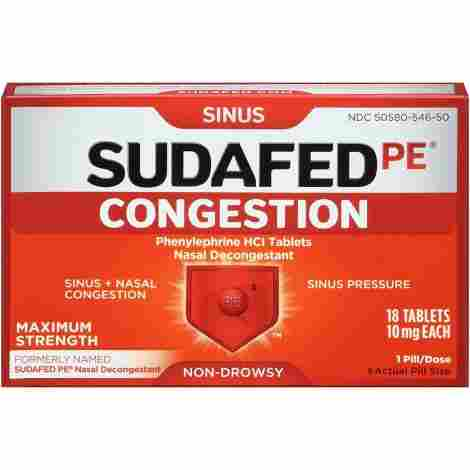 Sudafed PE Congestion Max Relief