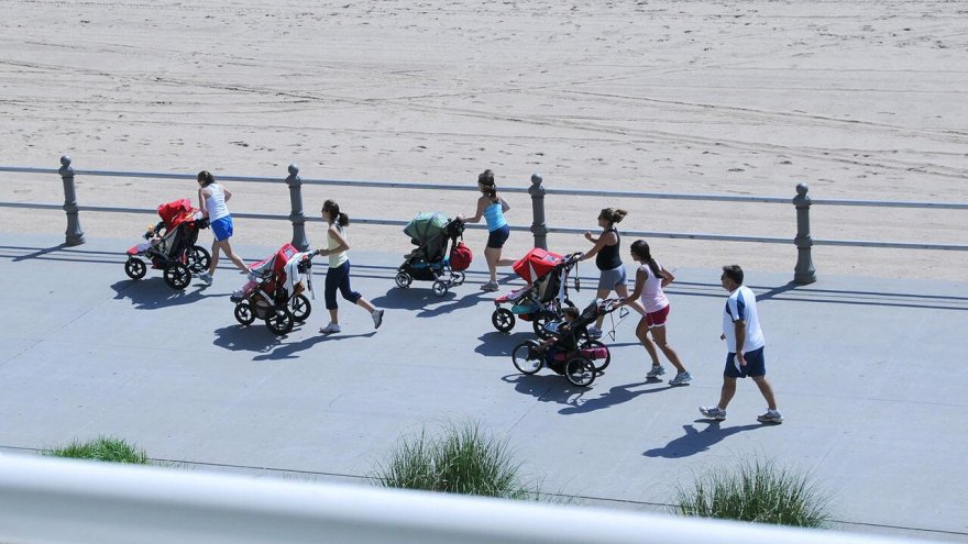jogging stroller as a training advantage