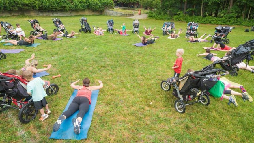 Stroller fitness classes are the best for moms because they allow women to workout and bring along baby.