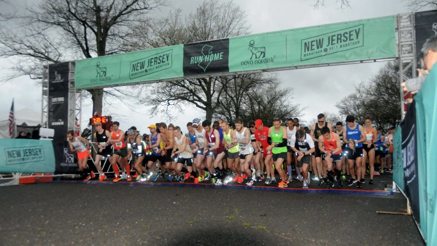The NJ Half Marathon is a flat, fast course that takes runners through the iconic Jersey Shore.