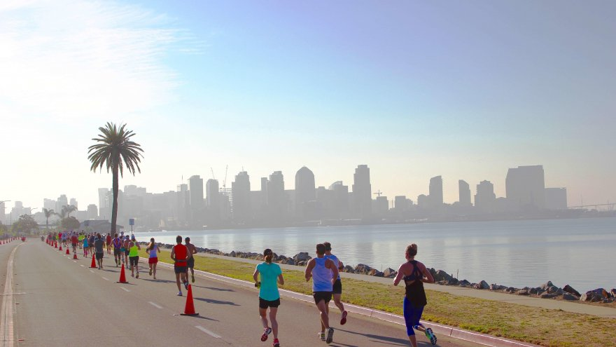You'll want to add this San Diego half marathon to your list for its panoramic course views of the Pacific Ocean and complimentary post race craft beer.