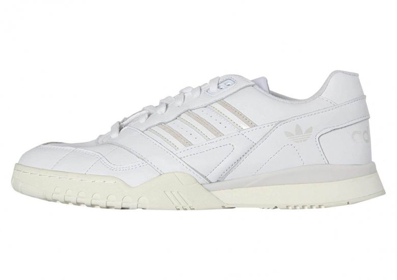The Adidas A.R Trainer is a remake of an Adidas 80s style with a leather upper.