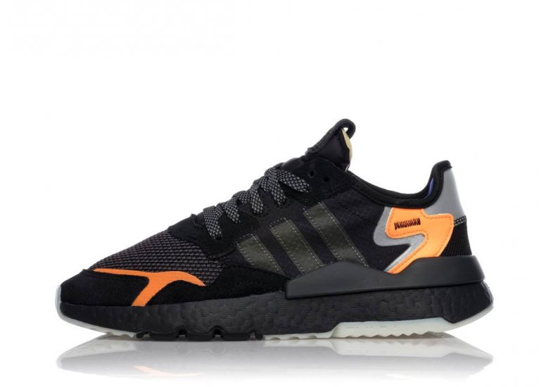 The Adidas Nite Jogger has a vintage silhouette with lots of reflective 3M material throughout.