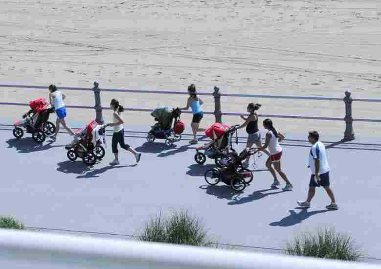 How much harder is it to run with a jogging stroller?