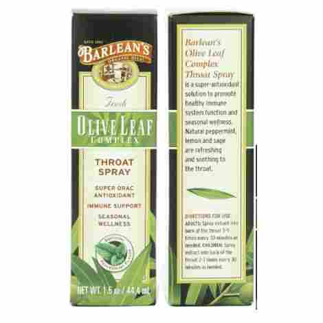 3. Barlean's Organic Oils Olive Leaf Spray