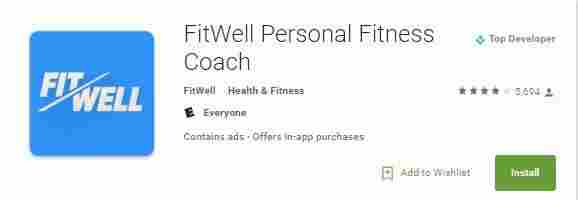 7. FitWell Personal Fitness Coach