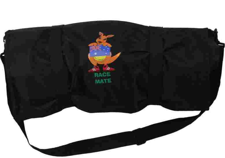 The Race Mate bag stores and organizes all gear for long distance runners.