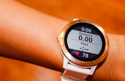 Runners can download apps and track gear with the Garmin Vivoactive 3.