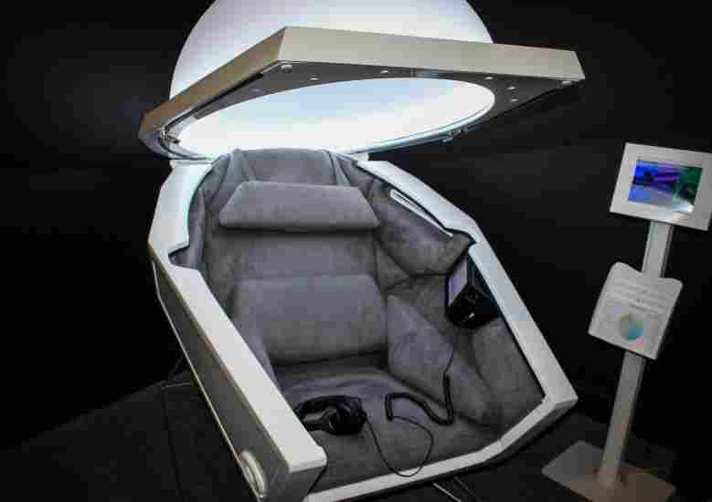 Somadome is the escape pod that allows users to heal their body, mind, and spirit.